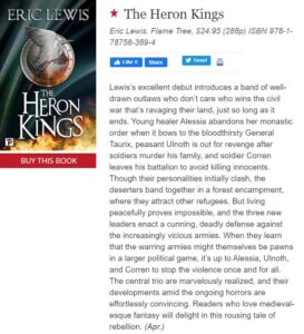 the heron kings publishers weekly starred review