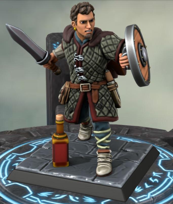 the heron kings by eric lewis hero forge miniatures models rpg gaming d&d fantasy character eyvind